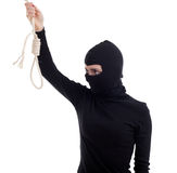 Female thief keeping gallows Royalty Free Stock Photography