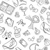 Female things pattern Stock Image