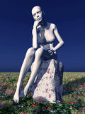Female thinker Royalty Free Stock Photo