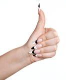 Female thumb up stock photography