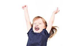 Female toddler celebrating Stock Image