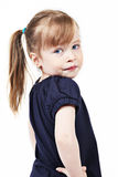 Female toddler with ponytail Royalty Free Stock Image