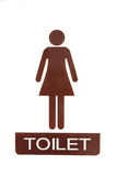 Female toilet sign Royalty Free Stock Photos