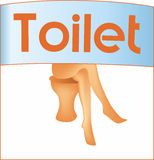 Female toilet sign Stock Photography