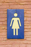 Female Toilet Sign. Royalty Free Stock Images