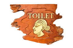 Female toilet signs. Royalty Free Stock Image