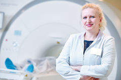 Female tomography or MRI test doctor portrait Royalty Free Stock Photography