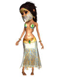 Female Toon Figure Belly Dancer Royalty Free Stock Photo