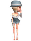 Female Toon Figure Royalty Free Stock Images