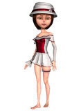 Female Toon Figure Royalty Free Stock Photos