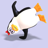 Female toon penguin Stock Images