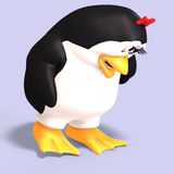 Female toon penguin Royalty Free Stock Photography