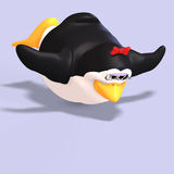 Female toon penguin Stock Photo
