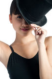 Female with Top Hat Stock Images