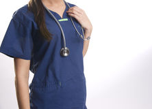Female Torso Wears Scrubs Nurse Working Healthcare Industry Medi Royalty Free Stock Photos