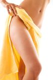 Female Torso Wrapped in Towel Royalty Free Stock Photography