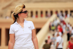 Female tourist Stock Photo