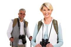 Female tourist husband Royalty Free Stock Photos
