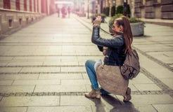 Female Tourist Photographer Royalty Free Stock Photo