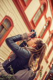 Female Tourist Photographer Stock Photos