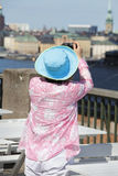 Female tourist taking picture Stock Photos