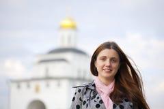 Female  tourist  in Vladimir Stock Image