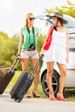 Female tourists Royalty Free Stock Photo