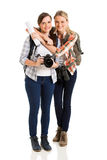 Female tourists together Stock Photo