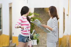 Female tourists Stock Images