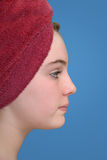 Female with towel Stock Photos