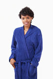 Female in towel robe Stock Photography