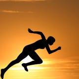 Female track runner illustration Stock Images