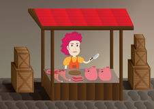 Female trader pig Royalty Free Stock Photography