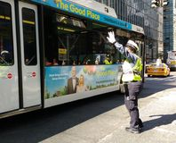 Female Traffic Officer, NYC, NY, USA Royalty Free Stock Images
