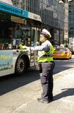 Female Traffic Officer, NYC, NY, USA Royalty Free Stock Photo