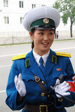 Female traffic police in North Korea Royalty Free Stock Photos