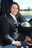 Female tramway driver Stock Image