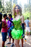Female Transgender staring in amusement Royalty Free Stock Images