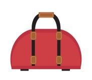 Female travel bag icon flat style. Women  isolated on white background. Vector illustration. Female travel bag icon flat style. Women bag isolated on white Royalty Free Stock Image
