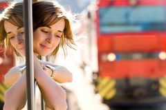 Female traveler royalty free stock photos