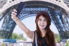 Female traveler taking selfie Royalty Free Stock Photo
