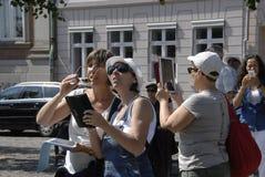 FEMALE TRAVELERS Stock Photo