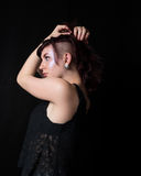 Female With Trendy Haircut And Look Stock Photography