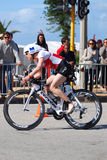 Female triathlete - Ironman stock image