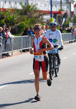 Female triathlete Natascha Badman stock photos
