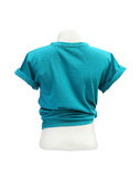 Female tshirt template on the mannequin (back side) on white bac Royalty Free Stock Images