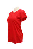 Female tshirt template on the mannequin on white Royalty Free Stock Photography