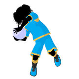 Female Tween Soccer Player Illustration Silhouette Stock Photos