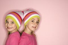 Female twins Stock Image