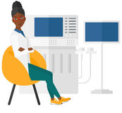 Female ultrasound specialist Royalty Free Stock Image